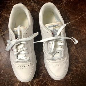 Reebok classic white leather sneakers 8